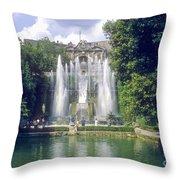 Tivoli Garden Fountain Reflection Throw Pillow