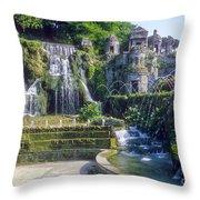Tivoli Garden Fountains Throw Pillow