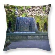 Tivoli Gardens Fountain And Pool Throw Pillow