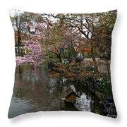 Tivoli Lake In Spring Throw Pillow