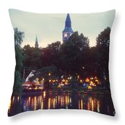 Tivoli Night Lights Throw Pillow
