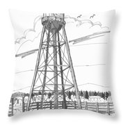Tivoli Water Tower Throw Pillow