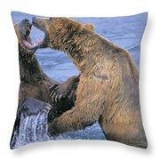 Tk0334, Thomas Kitchin Grizzlyalaskan Throw Pillow