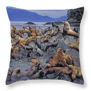 Tk0440, Thomas Kitchin Steller Sea Throw Pillow