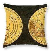 Tlingit Tribe Code Talkers Bronze Medal Art Throw Pillow