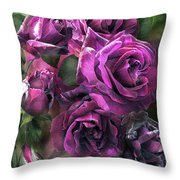 To Be Loved - Purple Rose Throw Pillow
