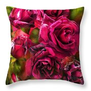 To Be Loved - Red Rose Throw Pillow