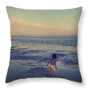 To Be Young Throw Pillow by Laurie Search