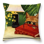 To Bee Or Not To Bee Throw Pillow by Karen Zuk Rosenblatt