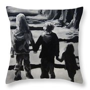 To Grandmothers House Throw Pillow