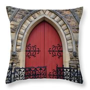 Red Door To Heavens Gates Throw Pillow