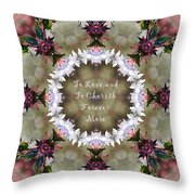 To Love And To Cherish Forever More Throw Pillow