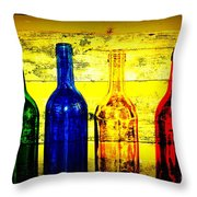 To Much Of Wine Throw Pillow