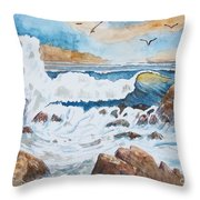 To Rough For Fishing Throw Pillow