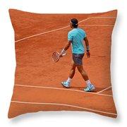 Rafael Nadal To The Baseline Throw Pillow