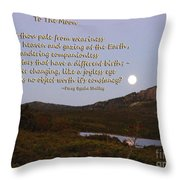 To The Full Moon Throw Pillow