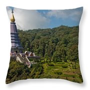 To The King And Queen Throw Pillow by Adam Romanowicz