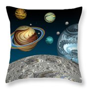To The Moon And Beyond Throw Pillow