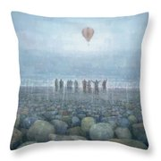 To The Mountains Of The Moon Throw Pillow
