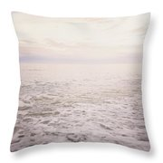 To The Ocean White With Foam Throw Pillow