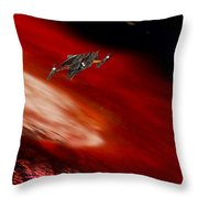 To The Planet's Surface Throw Pillow