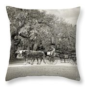 To The Stables Throw Pillow
