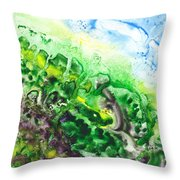 To The Unknown Abstract Path Number Five Throw Pillow