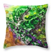To The Unknown Abstract Path Number Four Throw Pillow