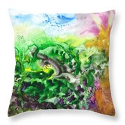 To The Unknown Abstract Path Number Six Throw Pillow