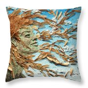 To The Wind Throw Pillow