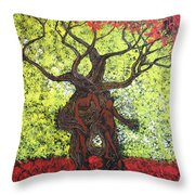 To The World You Go Throw Pillow