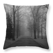 To Where It Leads  Bw Throw Pillow