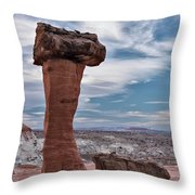 Toad Stool Formations Throw Pillow