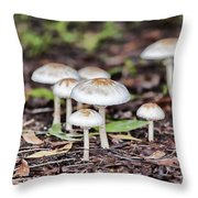 Toadstools V8 Throw Pillow