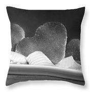 Toast Hearts With Butter Black And White Throw Pillow