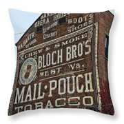 Tobacciana - Mail Pouch Tobacco Throw Pillow