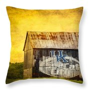 Tobacco Barn In Kentucky Throw Pillow