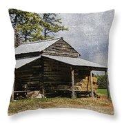 Tobacco Barn In North Carolina Throw Pillow