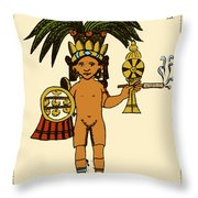 Tobacco In Aztec Ritual, Florentine Throw Pillow by Science Source