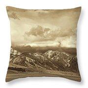 Tobacco Root Mountain Range Montana Sepia Throw Pillow by Jennie Marie Schell