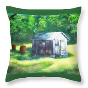 Tobacco Shed Throw Pillow