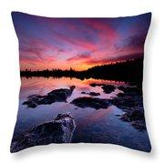 Tobermory Sunset 2 Throw Pillow