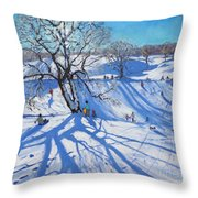 Tobogganers  Chatsworth Throw Pillow