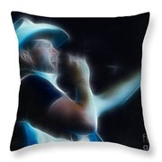 Toby Keith Fractal-1 Throw Pillow