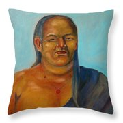 Tochtli Throw Pillow by Lilibeth Andre