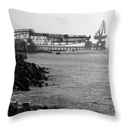 Port Of Tocopilla Chile Throw Pillow
