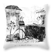Today I'm Fifty - The Old Halfway Point Throw Pillow