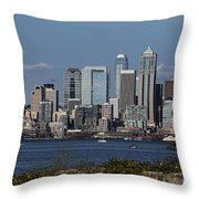 Today In Seattle Throw Pillow