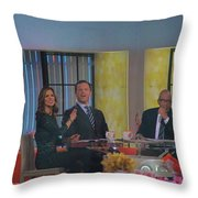 Today Show Cast Throw Pillow