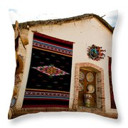 Todos Los Santos Market Throw Pillow